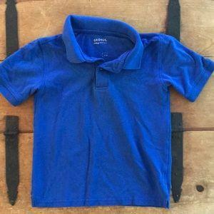 GEORGE Boys Blue Uniform Polo Shirt